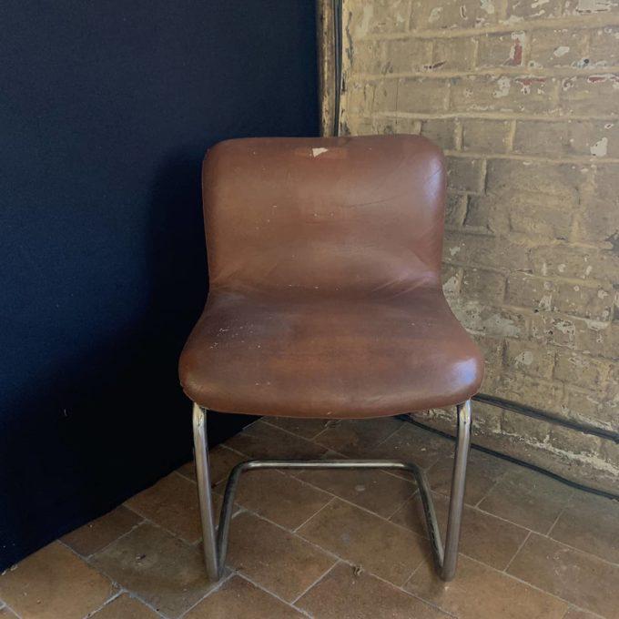 Fauteuil vintage en cuir