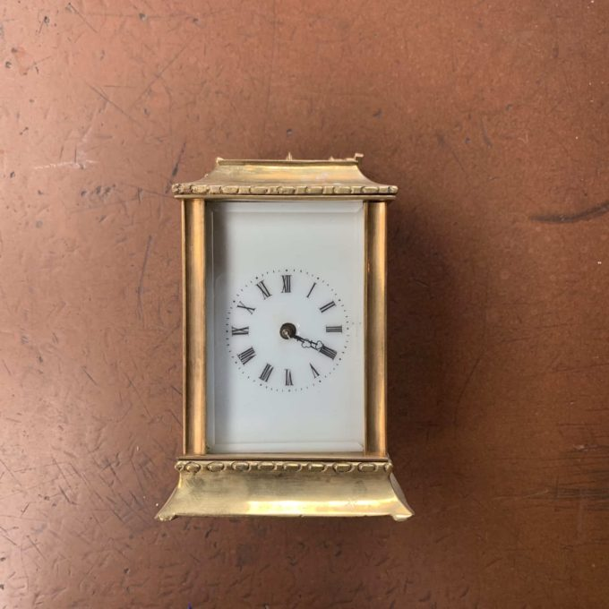 horloge dorée