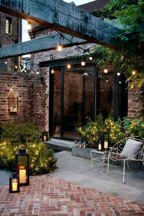 terrasse décorée