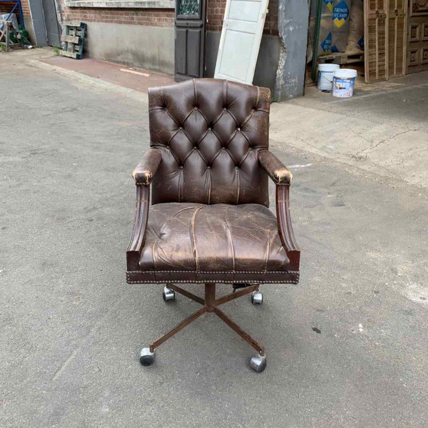 chaise de bureau en cuir