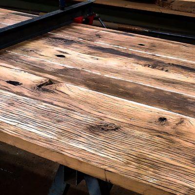 plateau en vieux bois