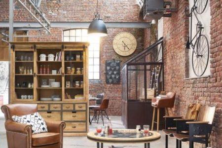 salon style décoration industriel et loft