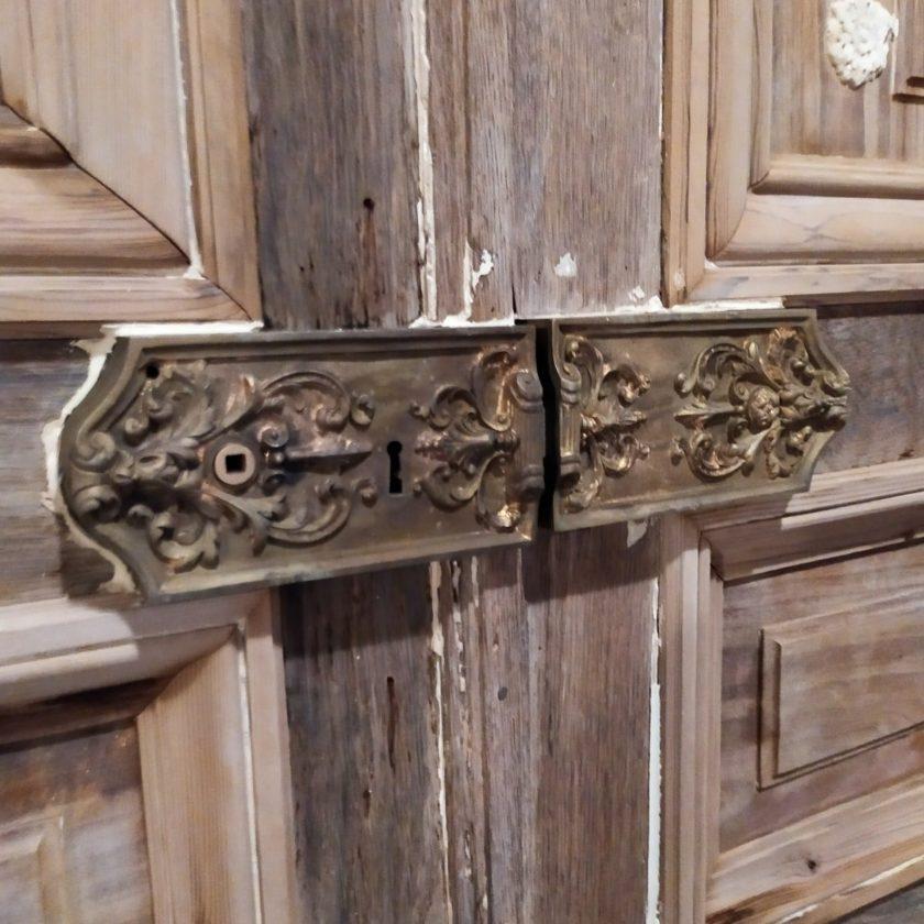 Double porte ancienne Haussmann poignée