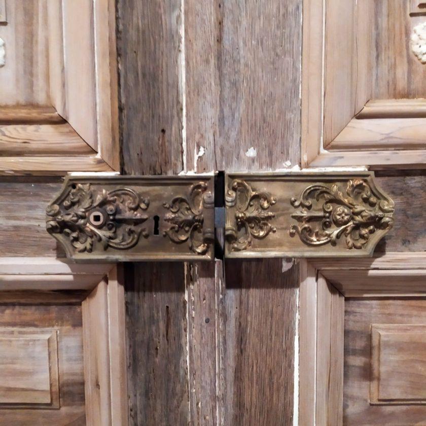 Double porte ancienne Haussmann serrure