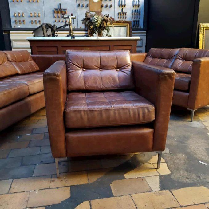 fauteuil cuir style knoll