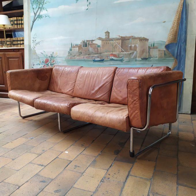 Canapé cuir inox