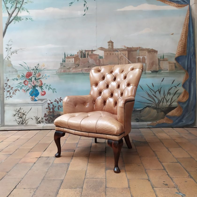 Fauteuil chesterfield chippendale