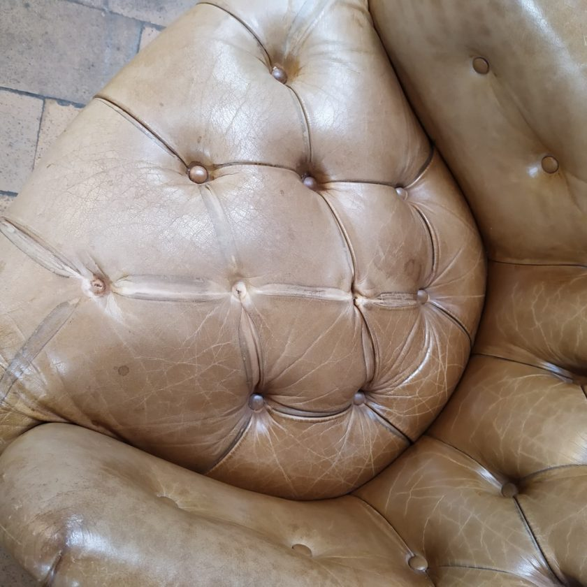 Fauteuil chesterfield chippendale assise