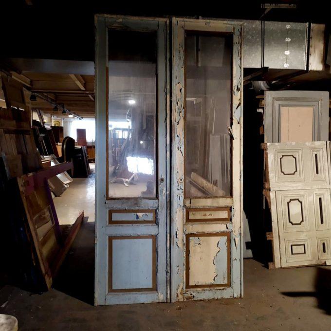 Double porte vitrée, 148x285cm.