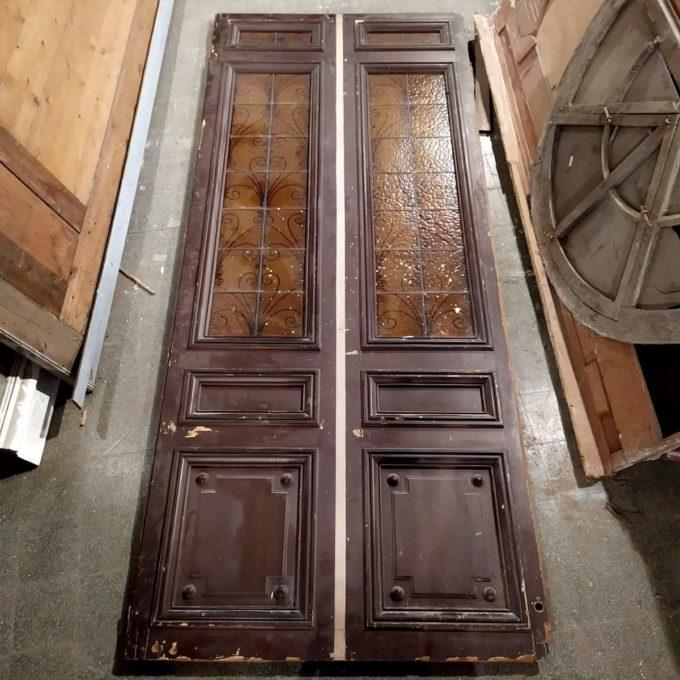 grande double porte vitree