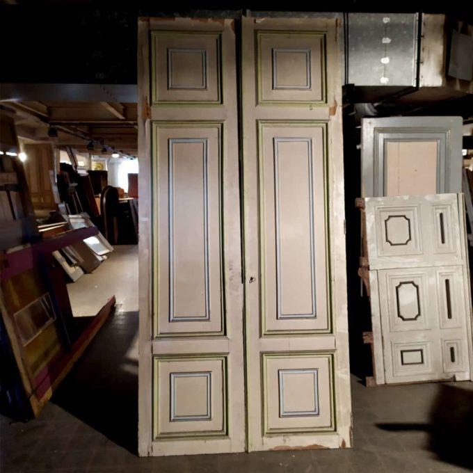 Double porte de placard, 138x287cm.