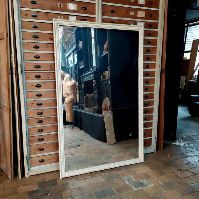 Trumeau ancien avec miroir, 129x205cm.