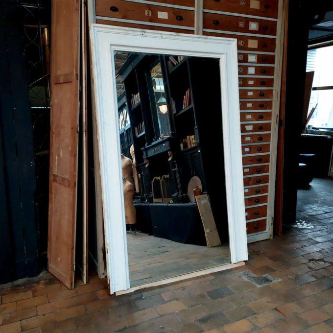 Trumeau ancien avec miroir, 145x222cm.