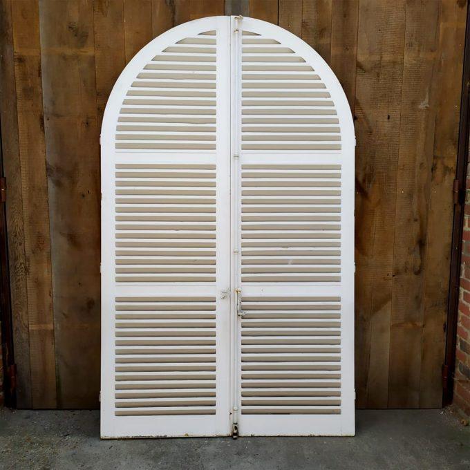 Double volets blancs, 153.5*253cm