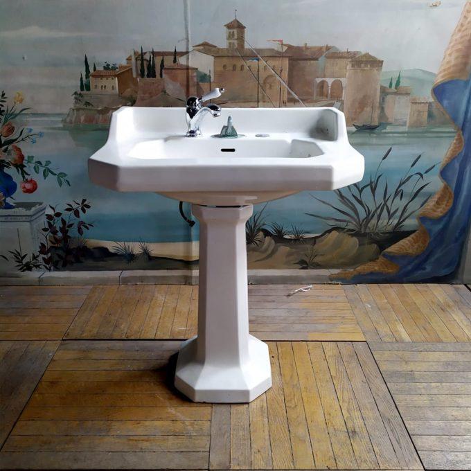 Lavabo sur pieds double vasque