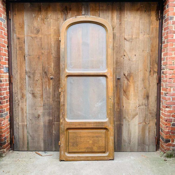 Porte de bistrot en chêne