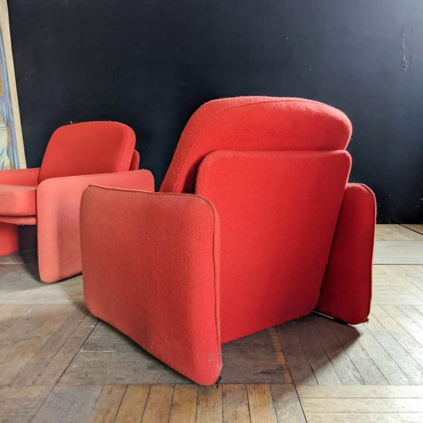 red armchair back