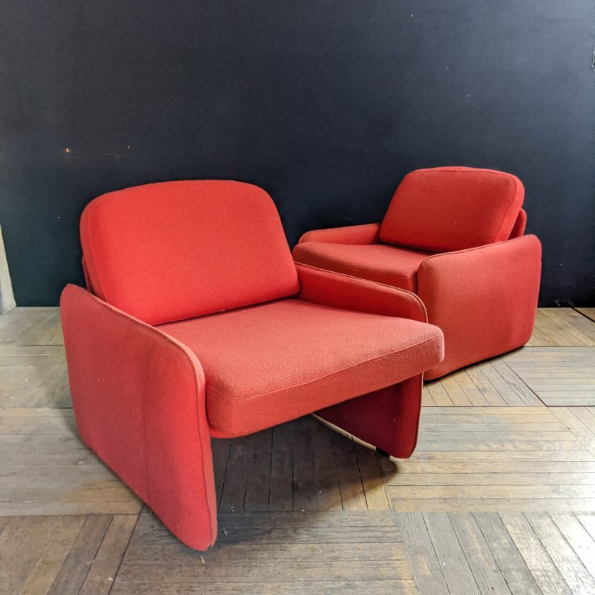 red armchair front