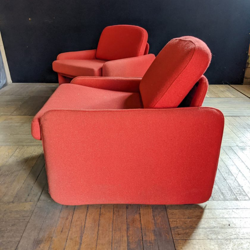 red armchair side