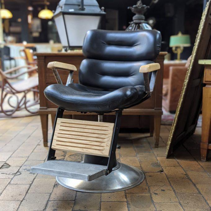 siège barbier en cuir